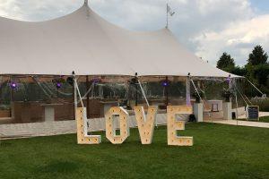 Bruiloft met love-letters bij DS-Events