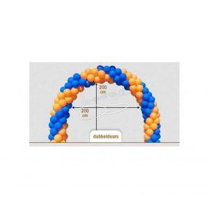 Ballonnenboog Dubbeldeurs 200cm breed 200cm hoog binnenmaat