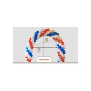 Ballonnenboog Enkeldeurs 100cmbreed 200cm hoog (binnenmaat)