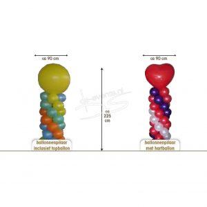Ballonnenpilaren 2,25m(2 Stuks)