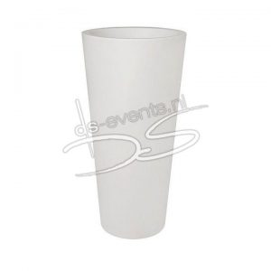 Bloempot wit kunststof ca. 80cm hoog
