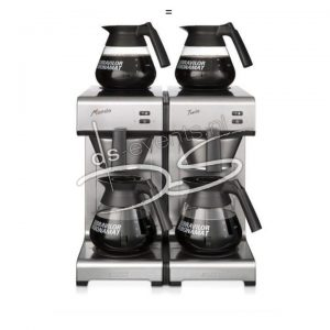 Bravilor Bonamat Mondo Twin, 2 zetsystemen en 4 glazen kannen (incl. filters)