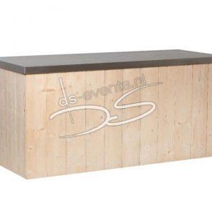 Buffet/Werktafel Steigerhout met RVS blad 200x80x90
