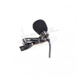 Dasspeld microfoon Shure MX185 (set; zender (beltpack), ontvanger en Dasspeld- microfoon)