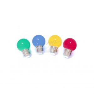 Feestverlichting/priksnoer lampen kleur, 25m