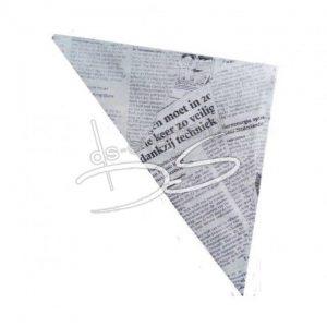 Frietzak met krantenmotief per stuk
