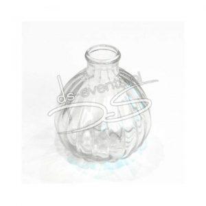 Glazen flesje voor op tafel