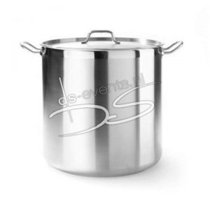 Kookpan met deksel hoog 160×150 mm, 3 l rvs