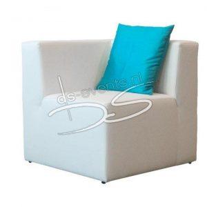 Loungebank hoekstuk (wit)