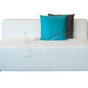 Loungebank wit zonder armleuning ca. 160cm
