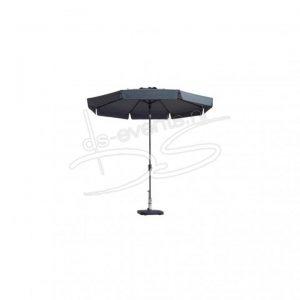 Parasol, 300x300cm Zwart incl. voet. (6 hoeken)