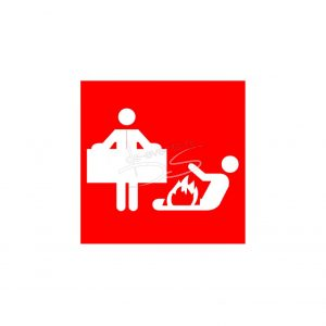 Pictogram blus-, branddeken
