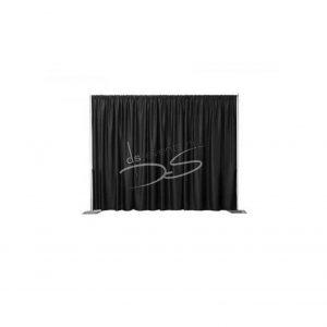 Pipe n drape set 24m kleur zwart ,hoogte 180-420cm, inclusief vloerplaten 14kg p/s.