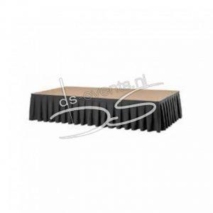 Podiumrok Boxpleat Zwart (12) 120x410cm