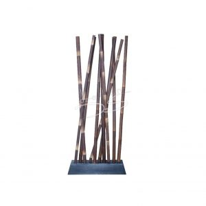 Roomdivider bamboe bruin, L100x B30x H250
