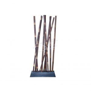 Roomdivider bamboe zwart, L100x B30x H250