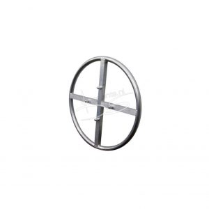 Single buis cirkel 48,3 x 3 D 100 met kruis koker 50 V en 4 x truss koppeling voor 30 vierkant truss