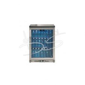 Staande glasdeur koelkast Gamko 140Liter, in rvs frame