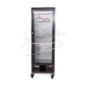 Staande glasdeur koelkast Gamko 300Liter, in rvs frame