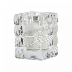 Theelichthouder glitter glas p.s.