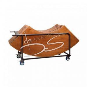 Transportkar met 8 buffet-, klaptafels Wave