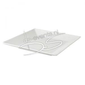 Vierkant bord Palmer White Delight 27x27cm