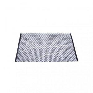 Vloerkleed patroon zwart/wit 140x140cm