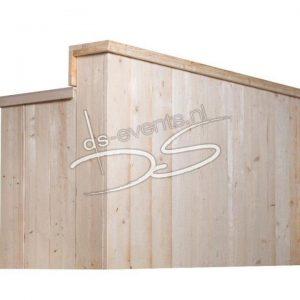 Voorzetbar Steigerhout 200cm (voor een biertap, koelkast of werktafel)