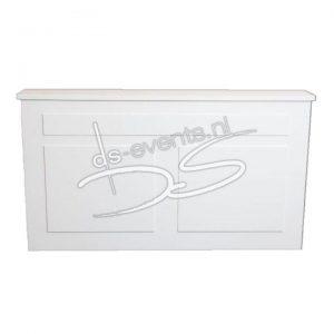 Voorzetbar wit voor een biertap, koelkast of werktafel 200cm